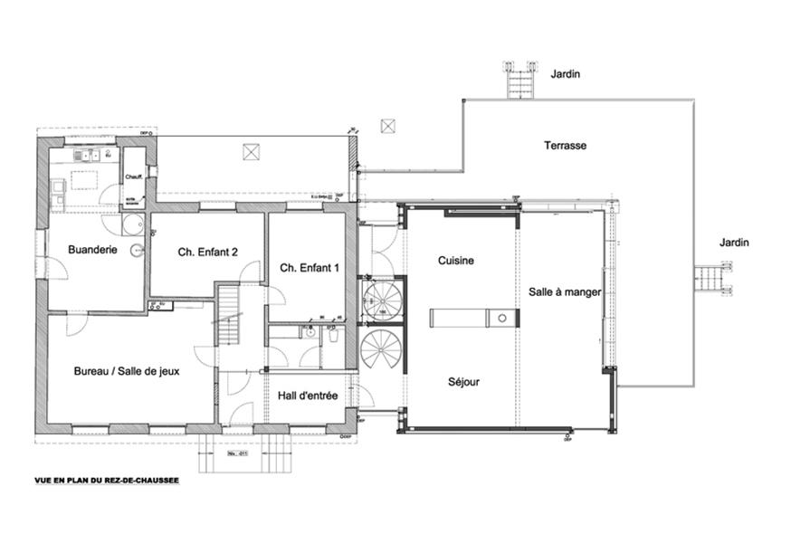 Extension d'une habitation à Tubize